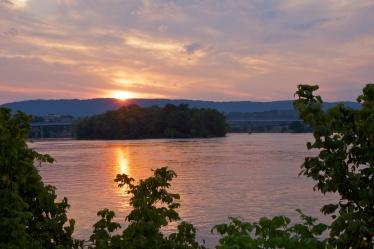 Sunset over McClellan Island