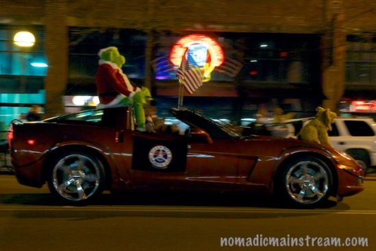 Not a great shot, but I love thinking about how much more fun the Grinch would have had taking this down the mountain!