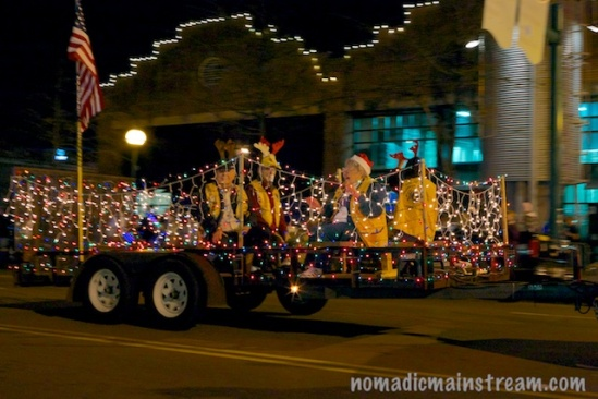 Smiles adorned this float.