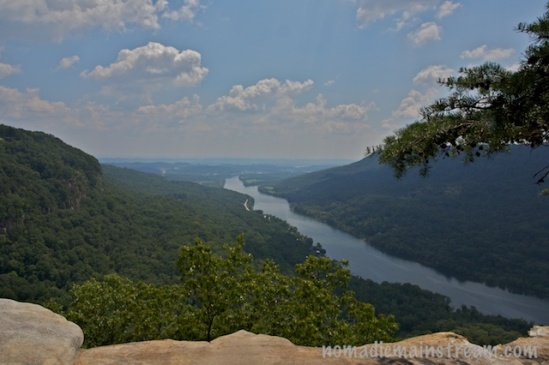 Looking down the Tennessee River valley after a long hike makes my day.