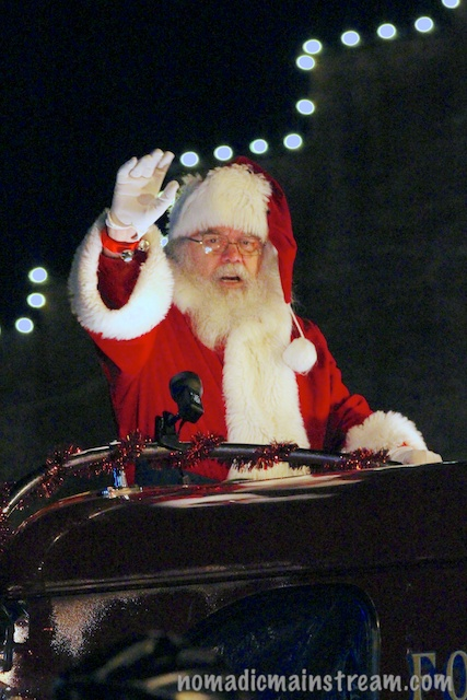 Santa closes the parade.