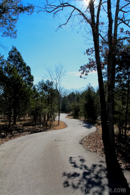 The road from the Memorial to the Overlook