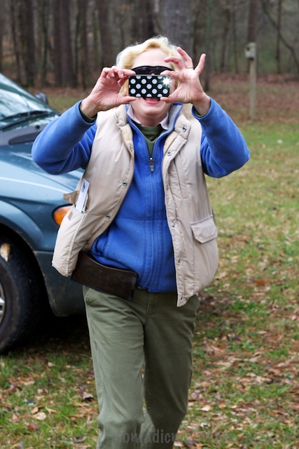 Dale wins in the camera battle with her polka-dotted case