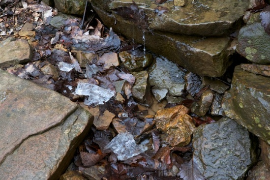 Chunks of ice remind us it's only spring on the calendar
