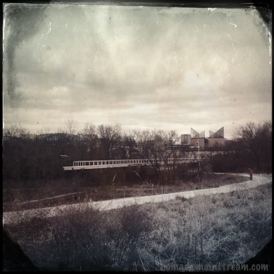 This modern park shot with retro effects seems like an anachronism