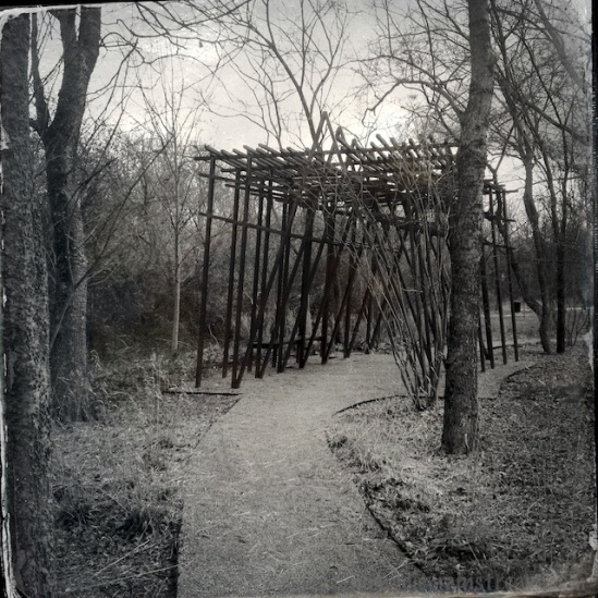 This sculpture/structure seems like a good fit for the tintype effect