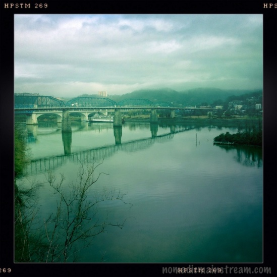 Sometimes, Hipstamatic randomly changes the lens/film on me--I kind of liked this though