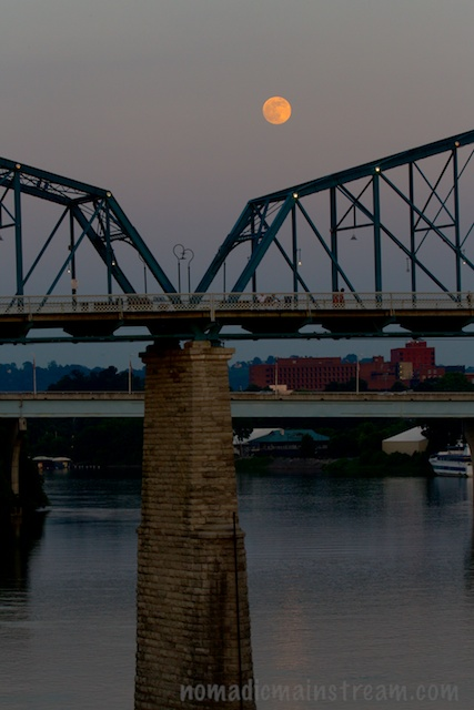 Moon over the bridge
