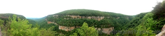 iPhone panoramic from the second overlook
