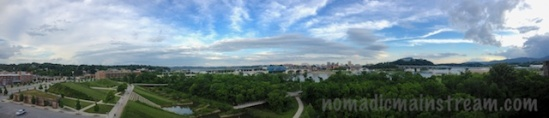 Panoramic View of the North Shore and Water Front at 7:30ish