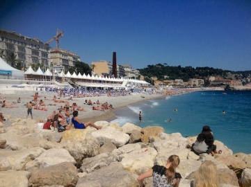 "The lovely ""beach"" in Nice"