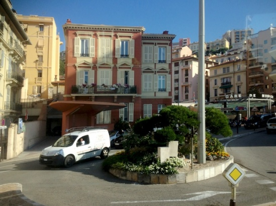 Street scene between Monaco train station and the conference