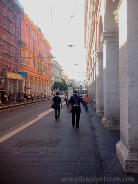 City street - lots of pedestrians