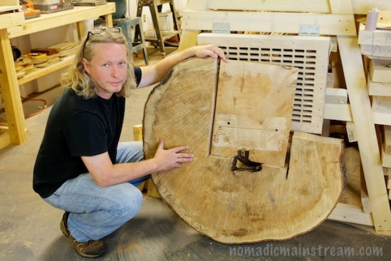 A ring from a very special tree provides the wood for caps on 3 guitars