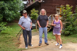 My husband with his aunt and uncle (this was a test shot when I was setting up my camera for my husband)