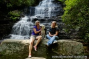 Family photo at Benton Falls