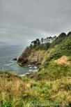 Rocky shoreline of the Pacific