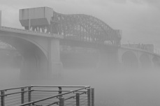 Market St Bridge looking faint through the fog