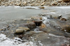 Not all of the Oconoluftee River was frozen