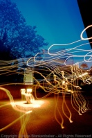 Picking my camera up during a long exposure netted this fun set of swirls