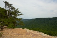 View from an overlook at Stone Door on a hike