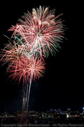 Fireworks from Chattanooga's Pops on the Riverfront celebration July 3rd